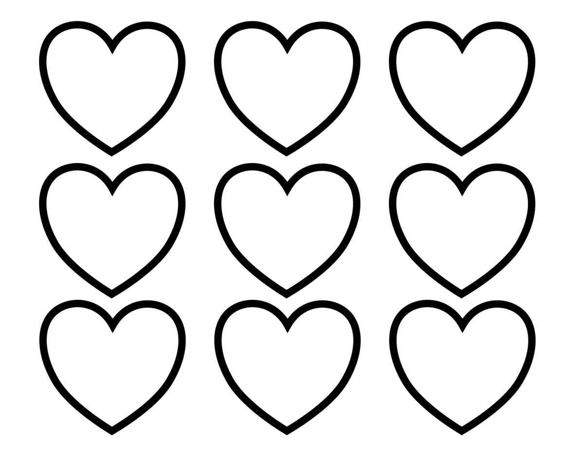 Распечатки открытки сердечки, айфонами