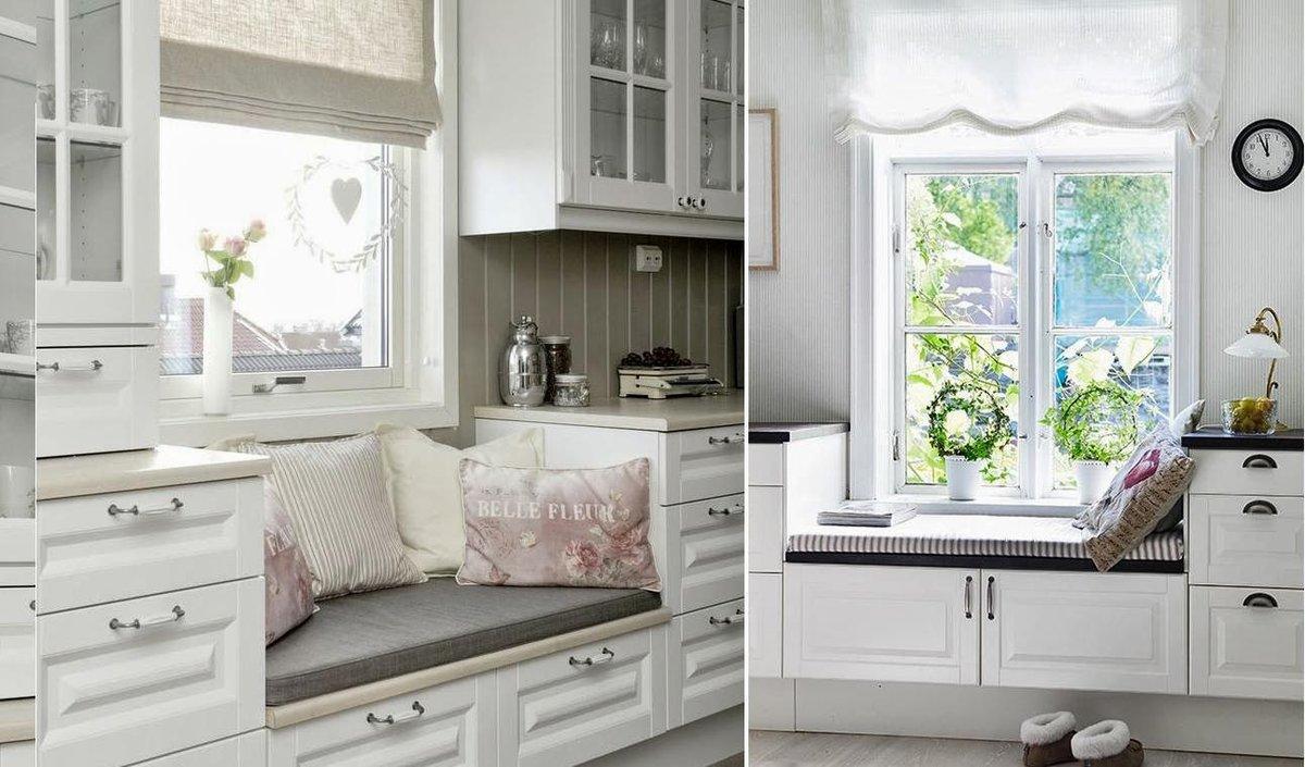 как можно использовать подоконник в кухне фото профессиональная