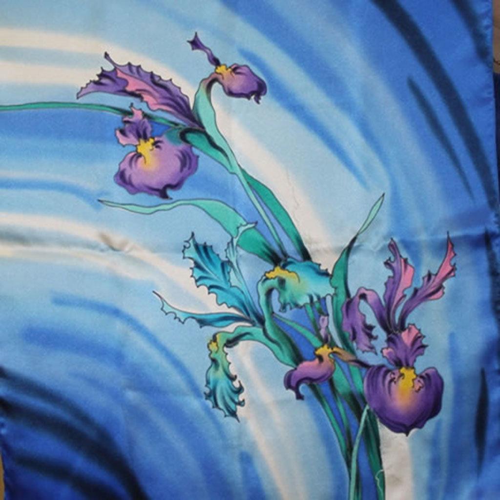 рисунок батик цветы крите