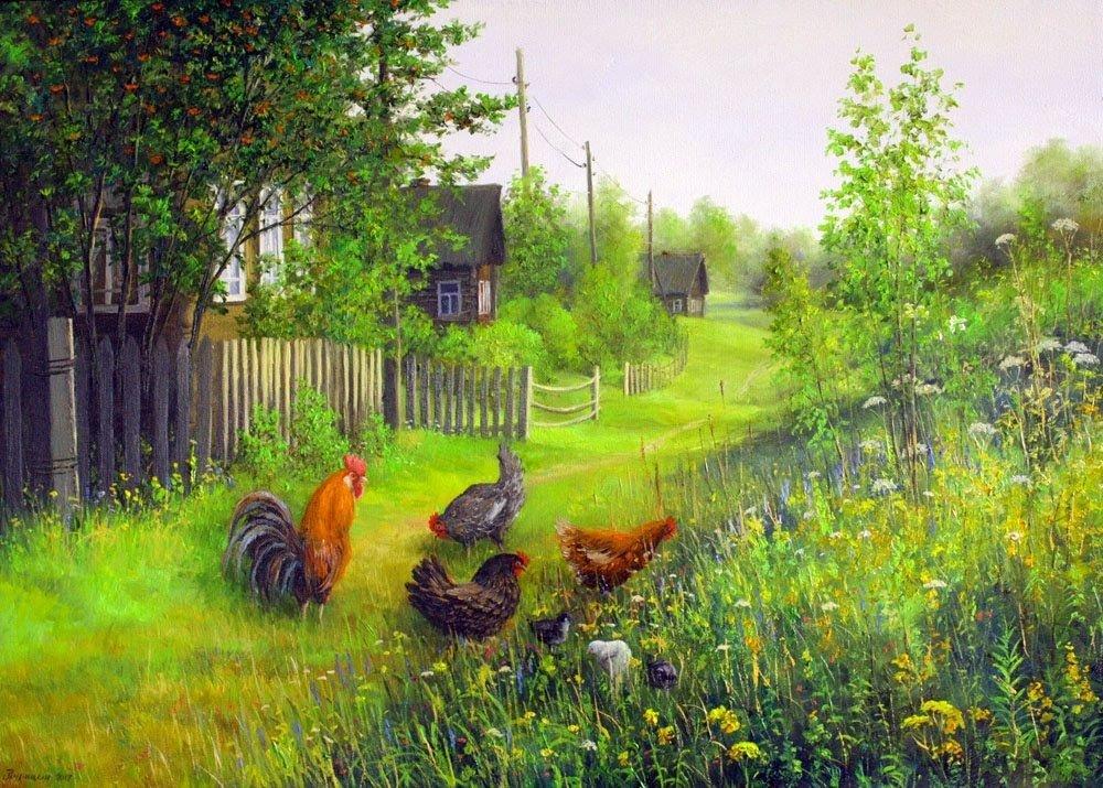 Картинки деревенские пейзажи летом