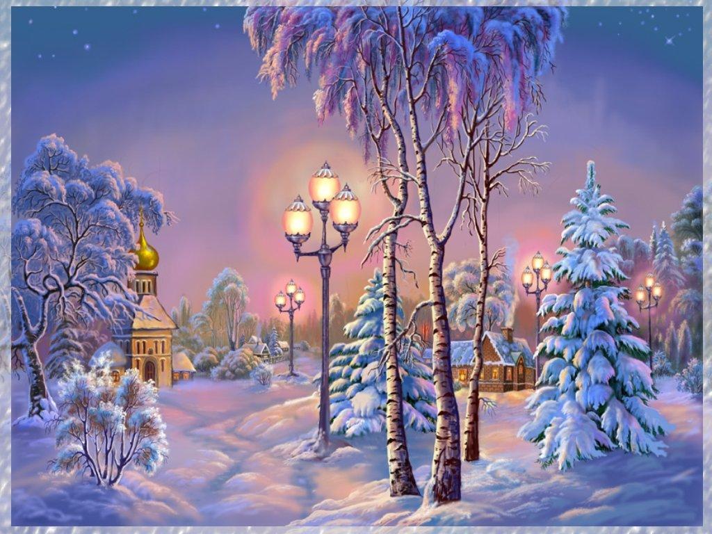 С природой новогодние открытки