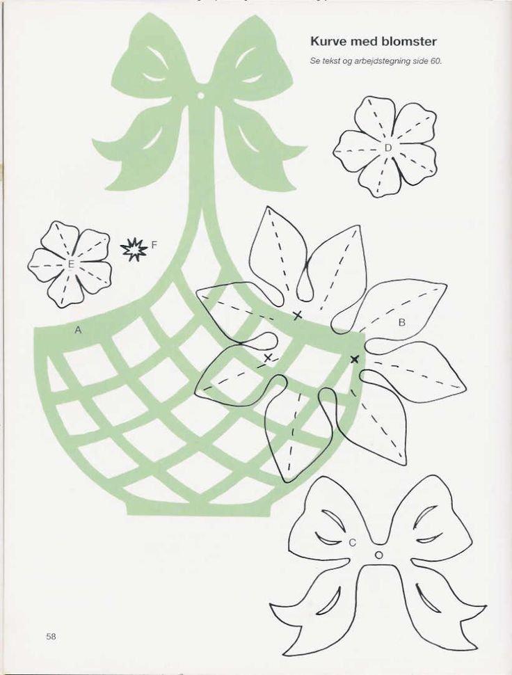 Открытка корзина с цветами шаблон
