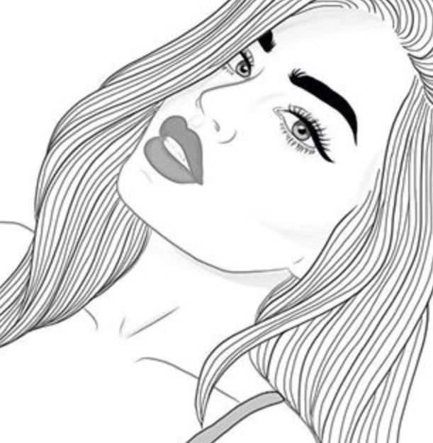 Картинки для срисовки крутые девчонки