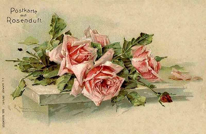 открытки под старину цветы бобруйске
