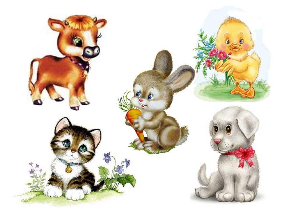 Картинка о животных для детей, смешными записями открытка