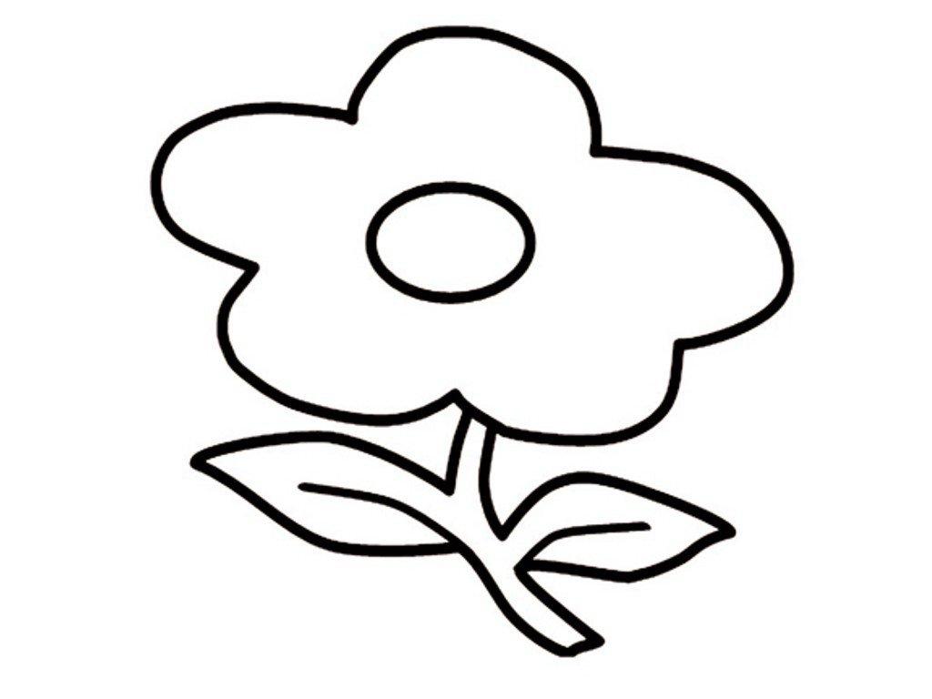Картинки для детей цветок раскраска