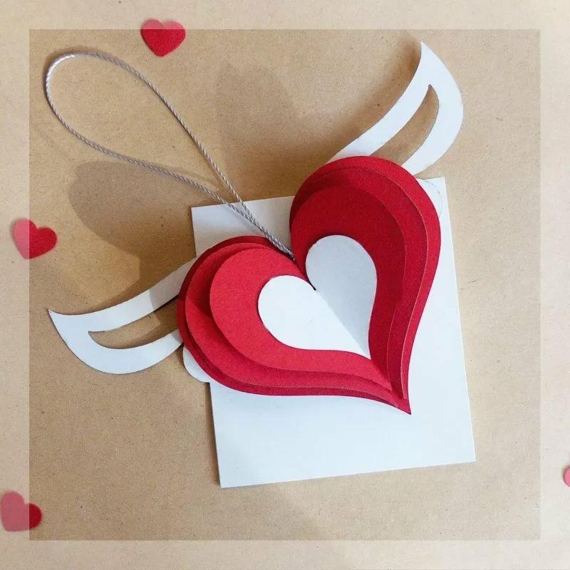 больше открытка в форме сердца как сделать это после