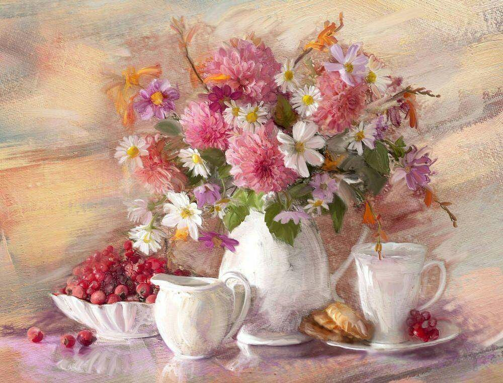 Картинки цветы натюрморт, добрый день милый