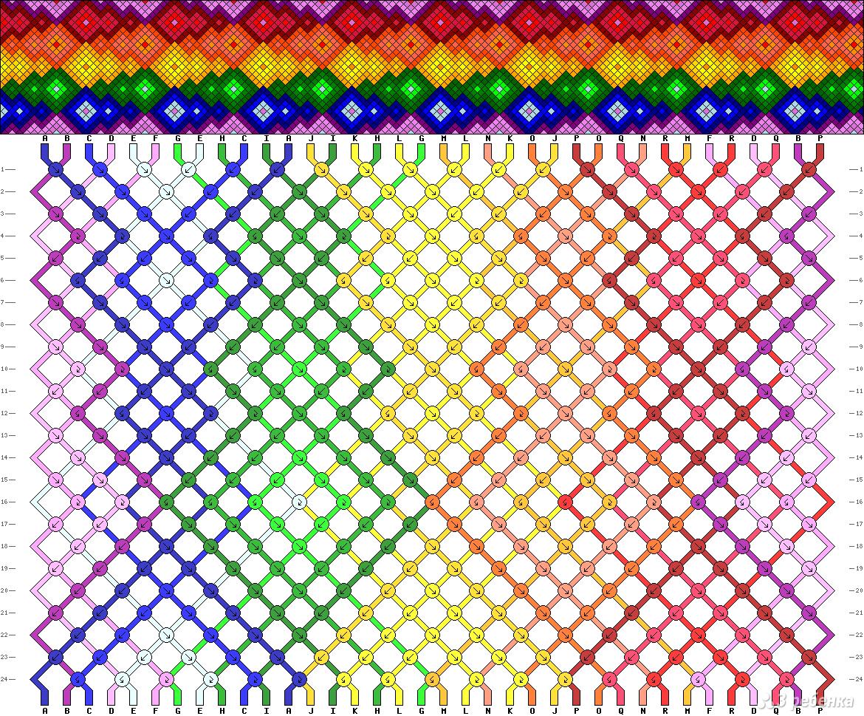 картинки схем для фенечек из мулине клавы канале