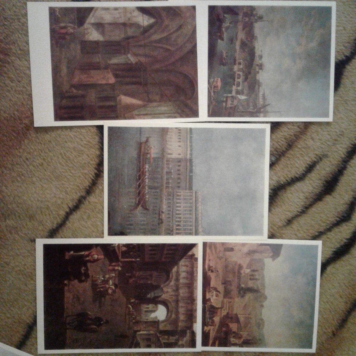 Набор открыток с репродукциями, дню