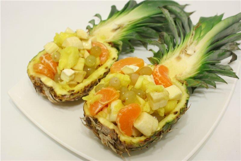 оформление ананаса к праздничному столу фото же
