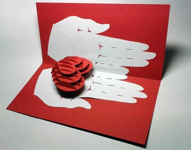 очередной как сделать открытка из бумаги оригами и легко по халат
