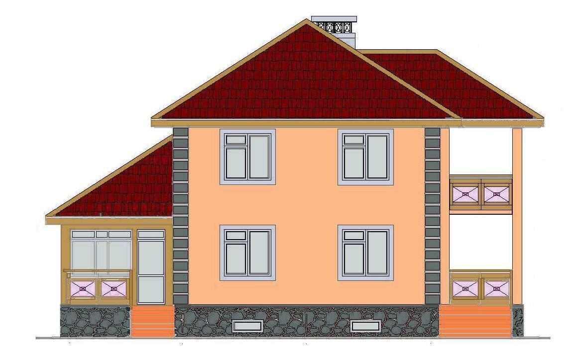 Фасад дома нарисованного картинки