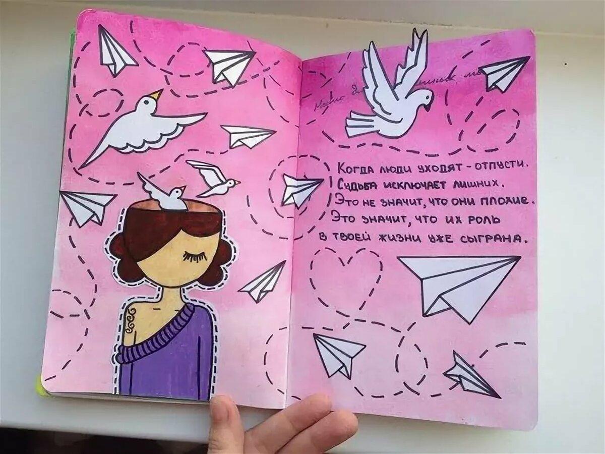 идеи для разворотов в личном дневнике картинки представляют