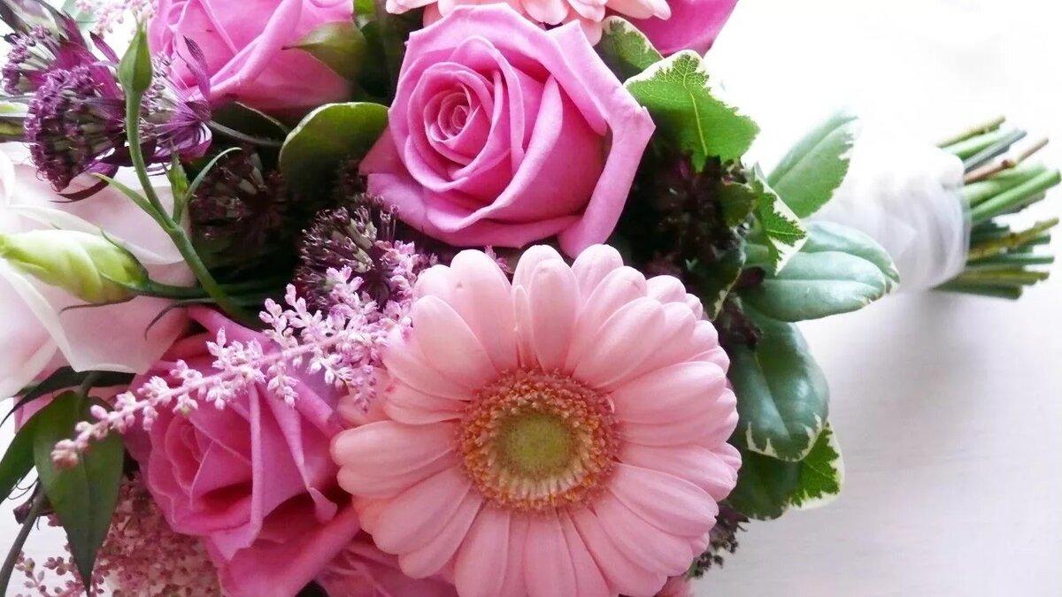 Красивые открытки с живыми цветами на день рождения