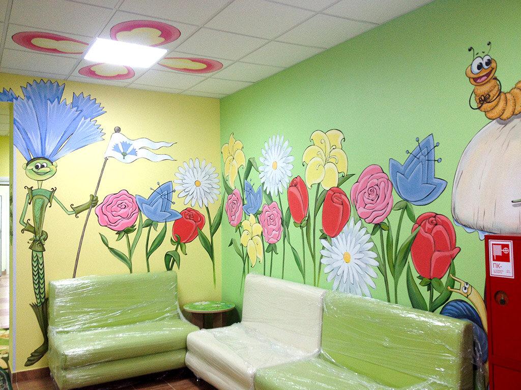Оформление стен в детских садах в картинках