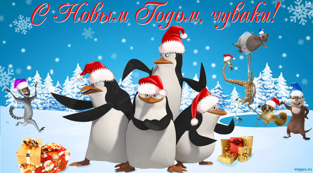 Красивые и прикольные открытки к новому году