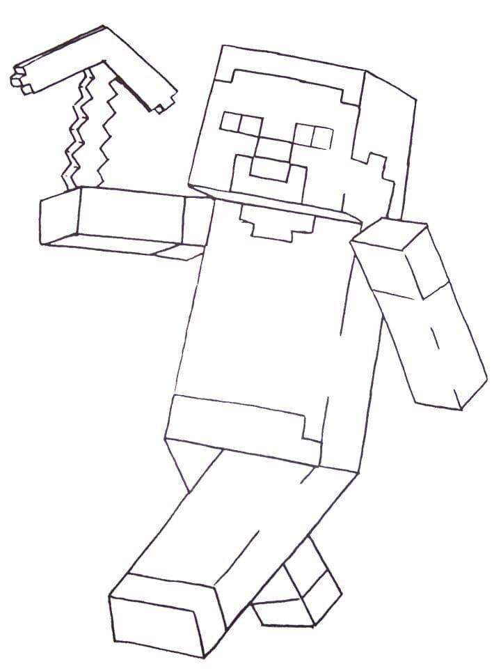 Прикольные рисунки карандашом из майнкрафт