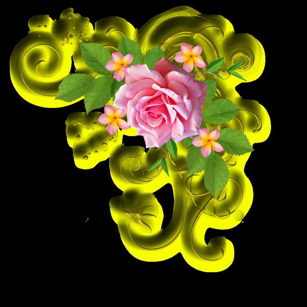 Рисунок 60 лет с цветами, днем