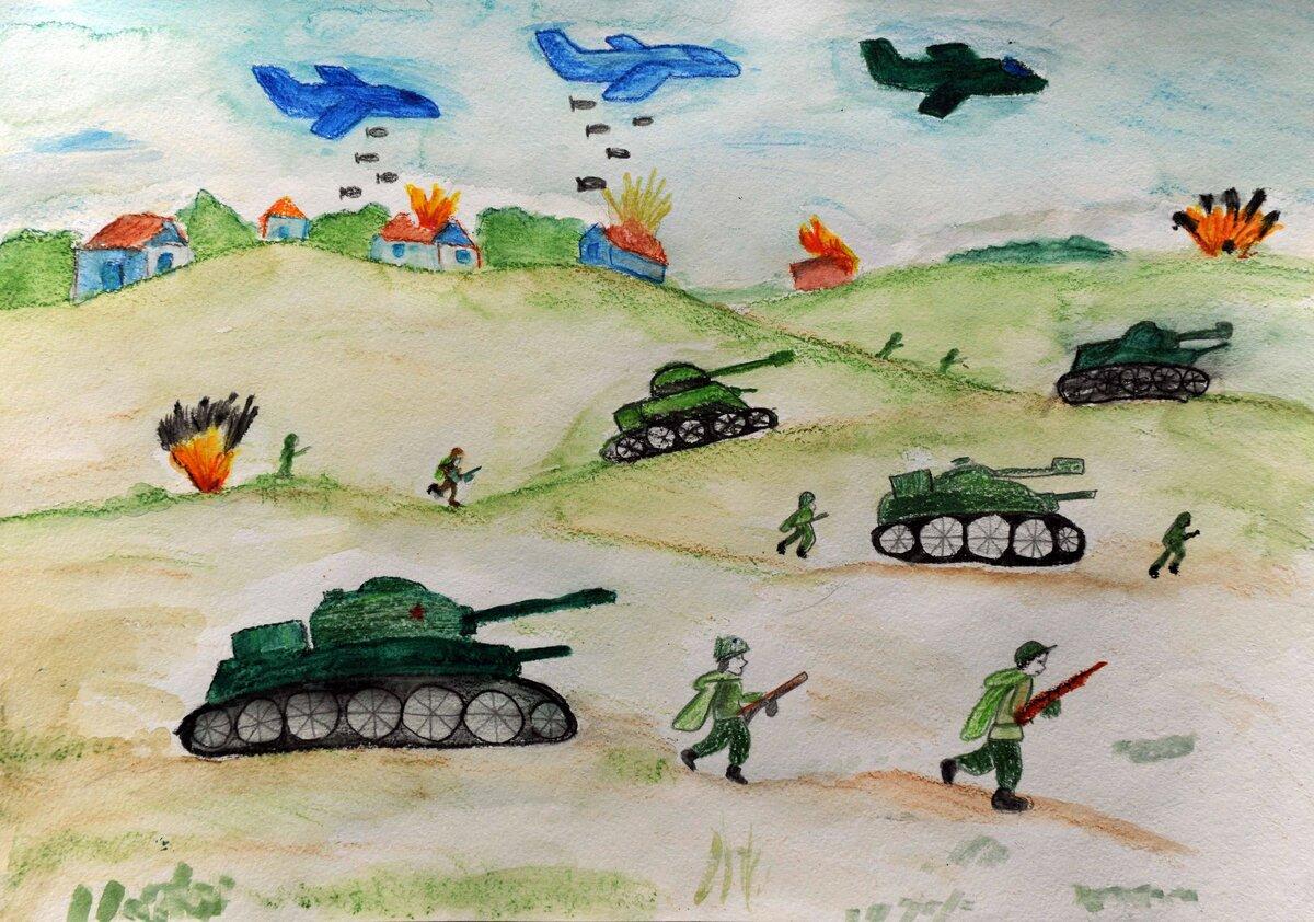 Нарисовать картинку о войне для детей, нарисовать открытку день