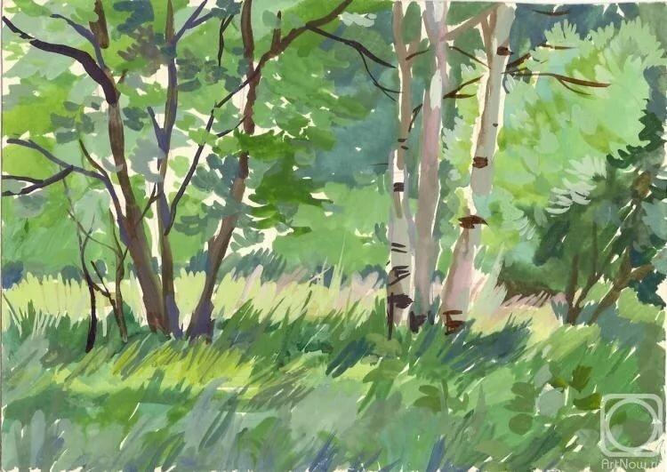 Лес рисунок гуашью, картинки первоклашкам картинки