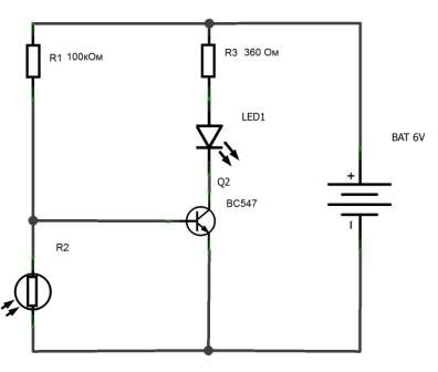Из какого транзистора можно сделать фоторезистор