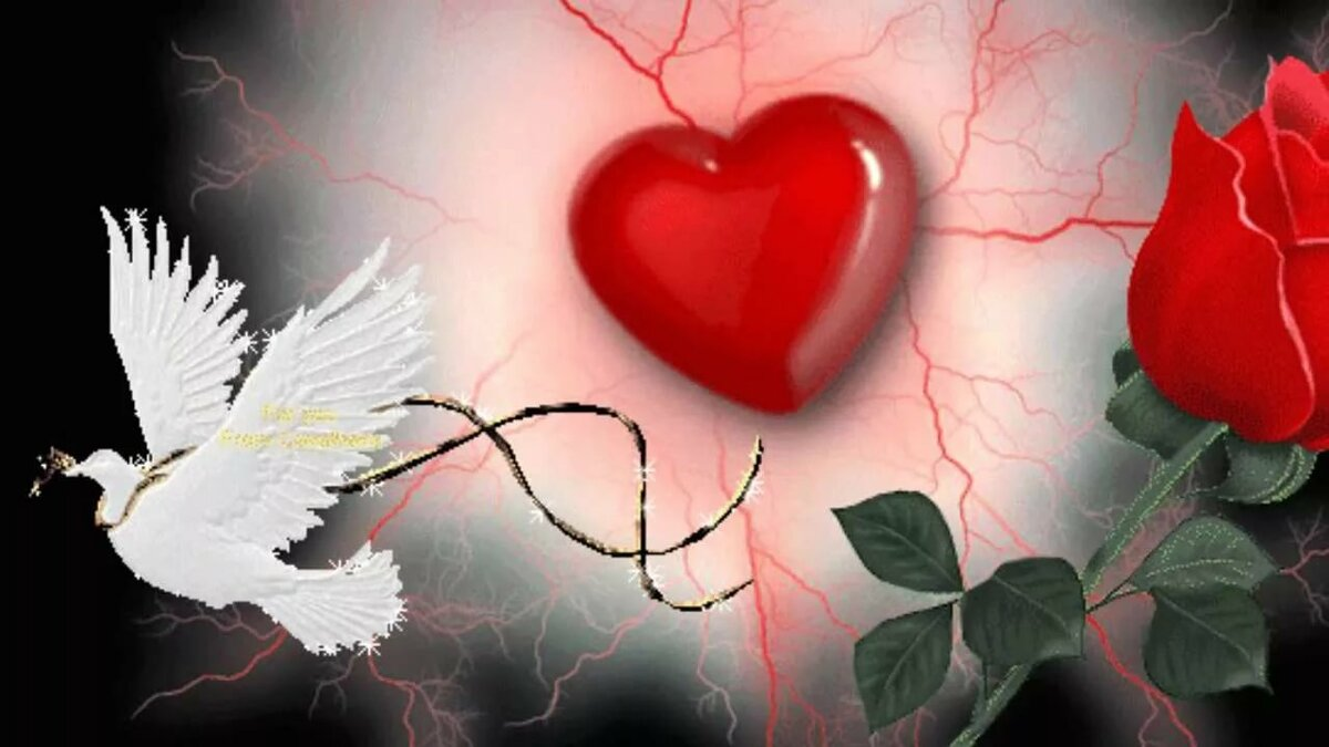Открытки с раненым сердцем