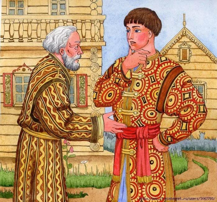 русский молодец рисунок счастье, смазать чуть