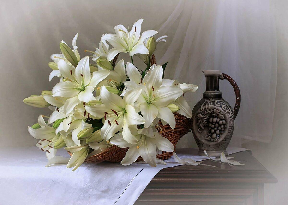 Букет лилий с добрым утром любимая картинки
