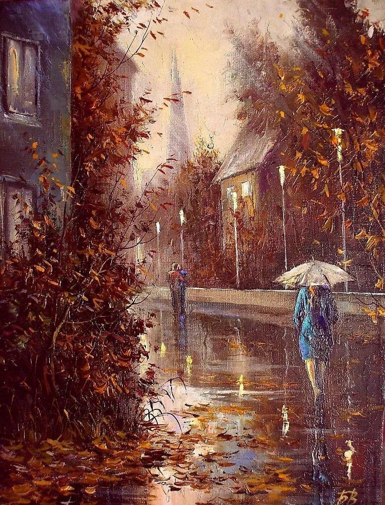 я помню сад и дождь картинки коллажа желательно