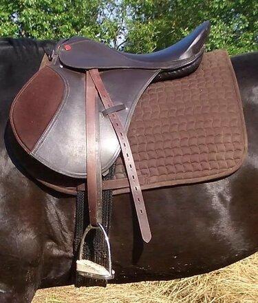 выездковое седло на лошади