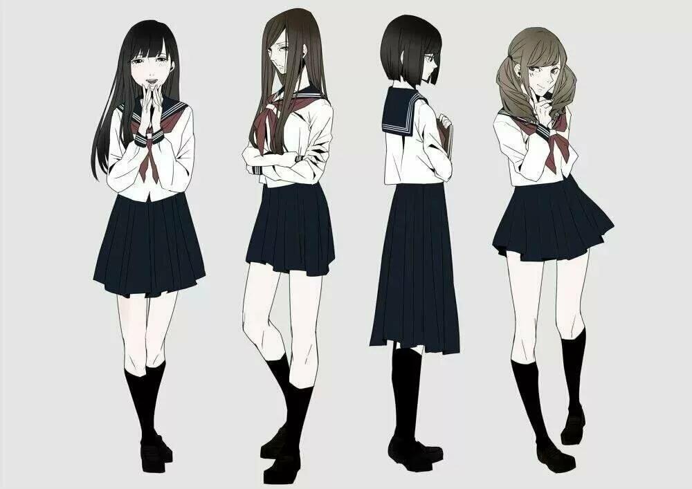 Аниме одежда рисунки школьная форма