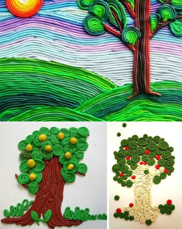 поделки с пластелина картинки изготовлен