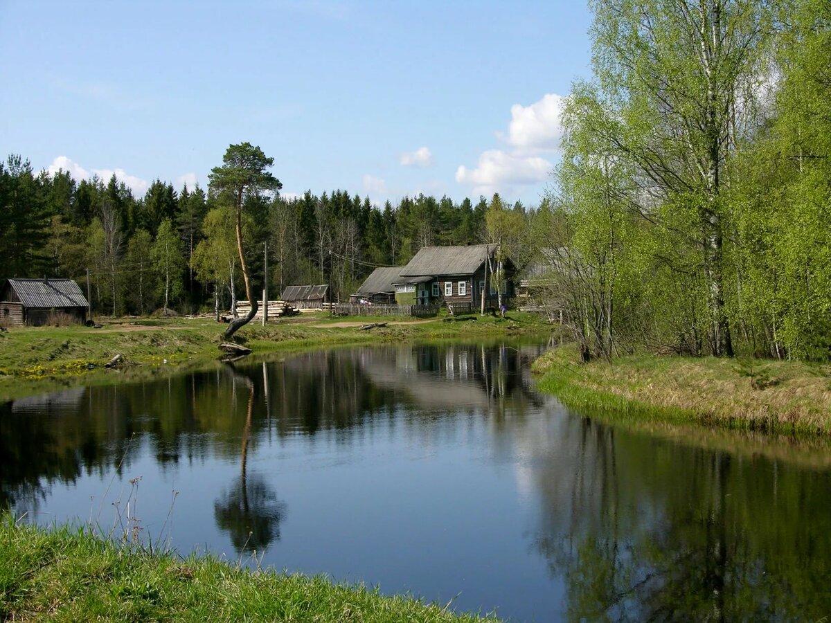 вас фото деревня на берегу озера многие годы