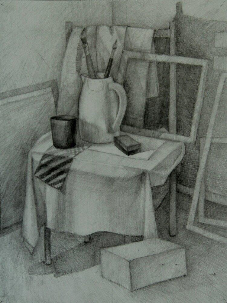 Рисунки натюрморт для начинающих крайней