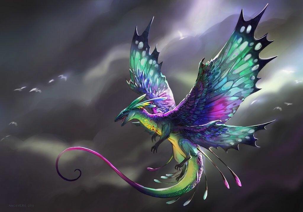 Драконы яркие картинки