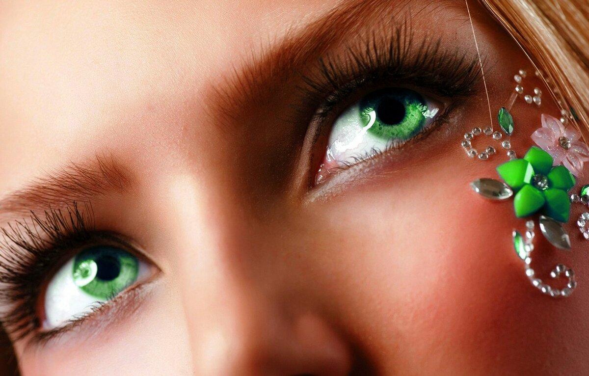 Картинки зеленые женские глаза