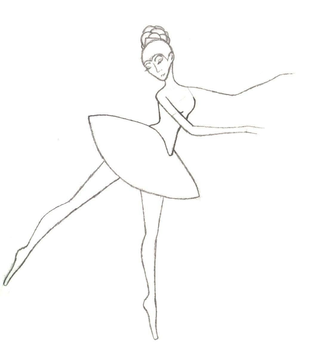 Имя дарья, картинки балерина для срисовки карандашом