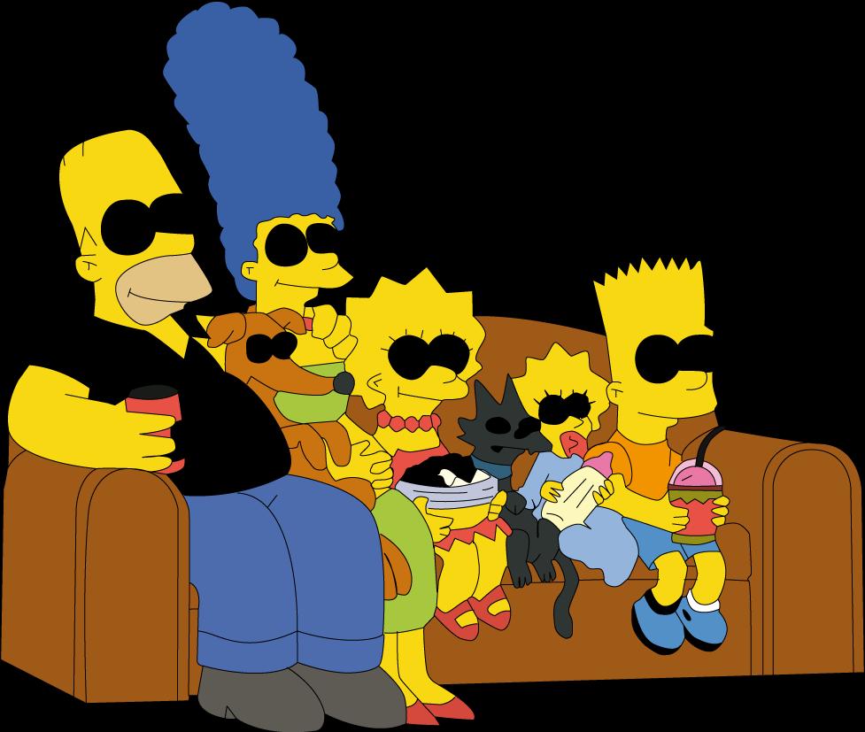 симпсоны картинки вся семья на диване