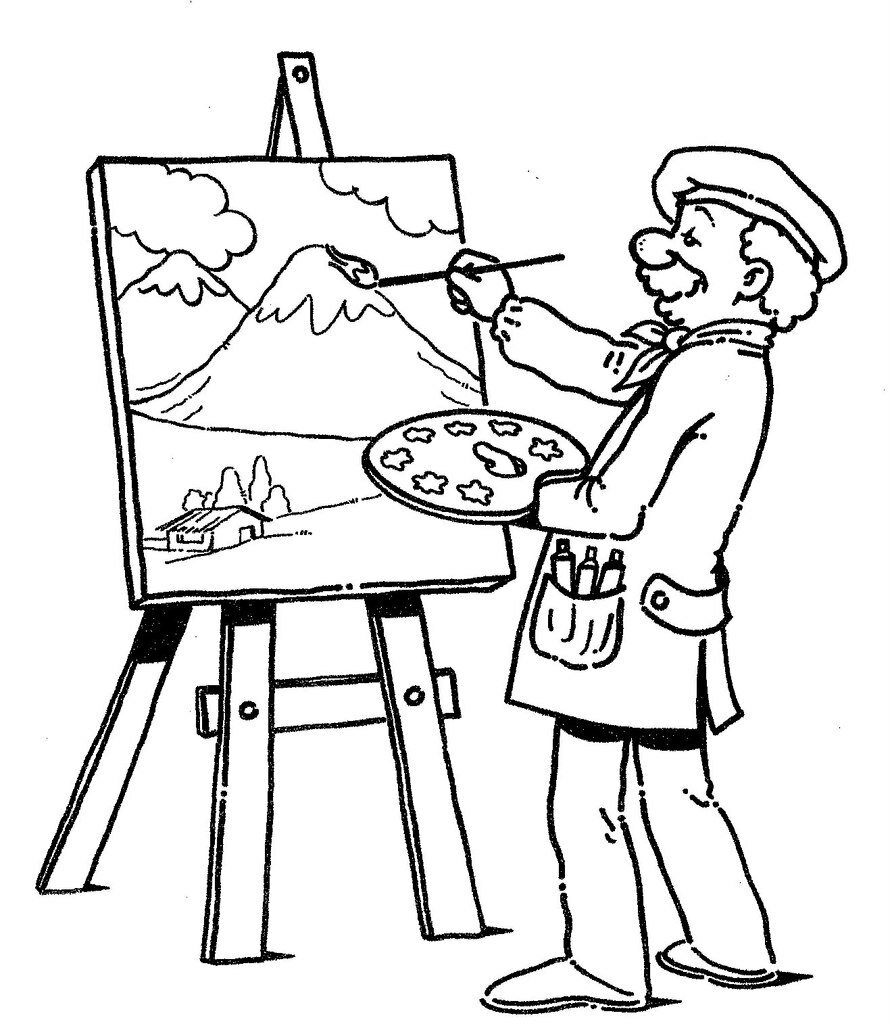 Occupation Coloring Pages Sketch Coloring Page Card From User