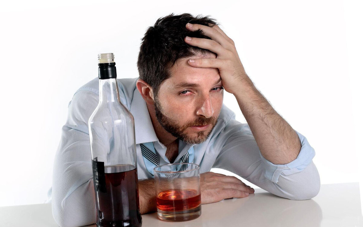 Картинка с пьяницей