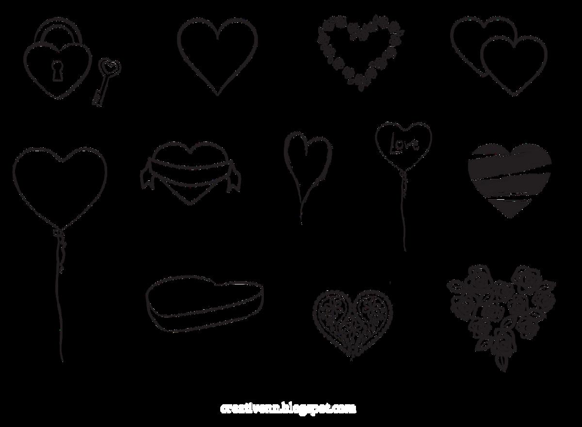 Картинки рисования сердечек