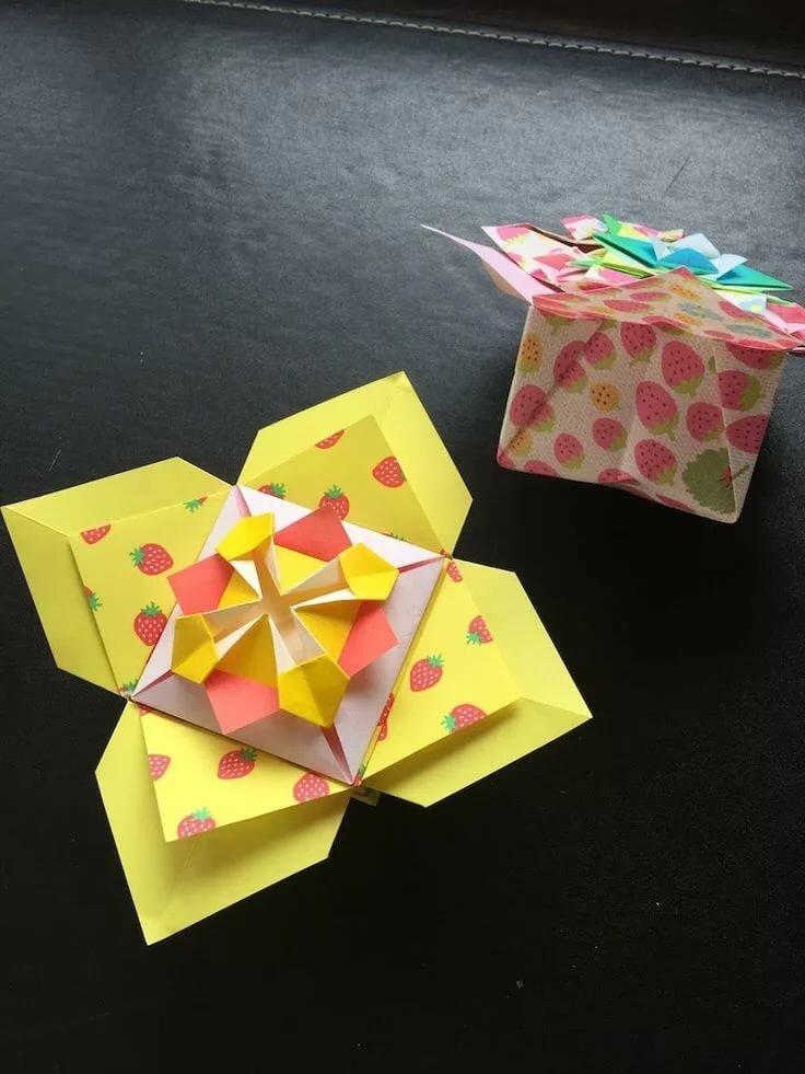 Оригами открытка коробочка