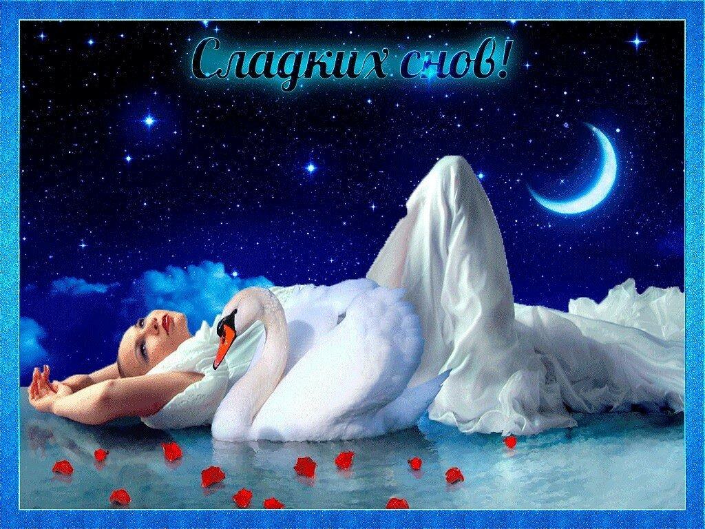 Доброй ночи видео открытка