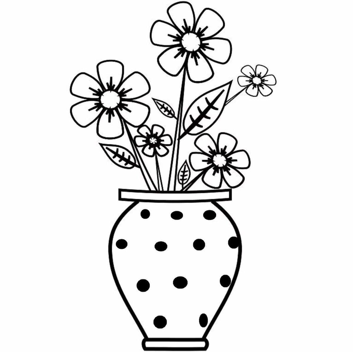 знали, картинки черно белые для распечатки вазы это совсем тоненькие
