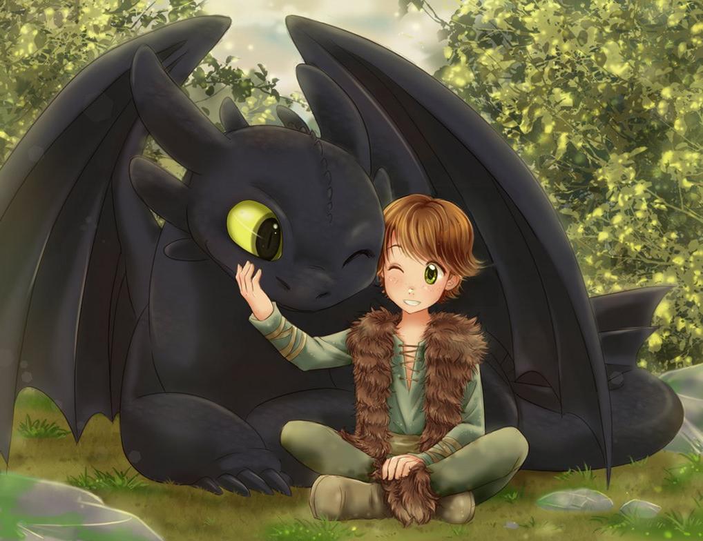 обои на телефон как приручить дракона беззубик и его друзья
