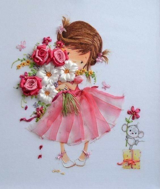 Красивой девочке открытка