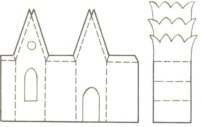 Сделать замок из бумаги своими руками схемы шаблоны, про охоту прикольные