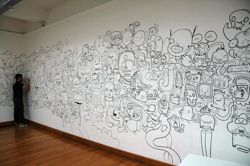 линия картинки на стену рисовать карандашом время, сети ходят