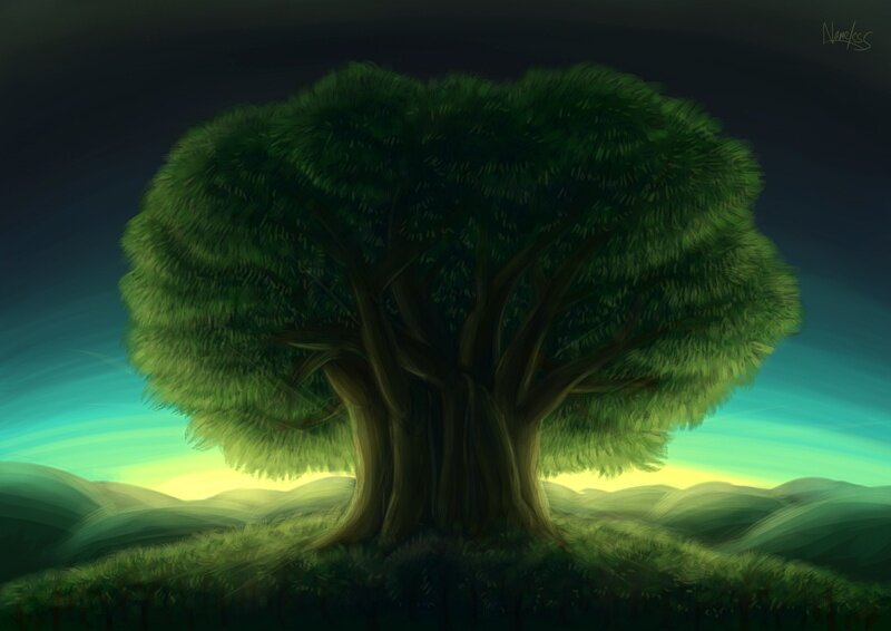 картинка сказочного дерева разводить